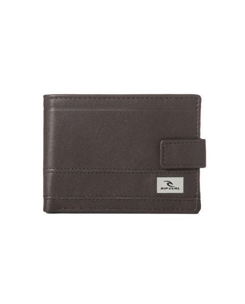 RIP CURL MENS WALLET.REFLECT CLIP FAUX LEATHER BROWN MONEY NOTE PURSE 8S A1 9